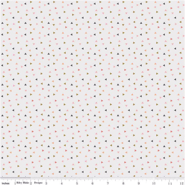 Riley Blake Metallic A Little Bit Of Sparkle SC8986 White Scatter By The Yard