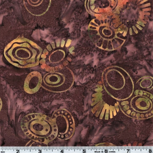 Anthology Batik 10070 Multi-Color Abstract Circles By The Yard