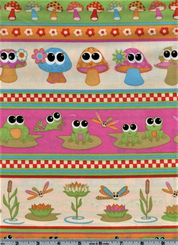 RJR Kitschy Kawaii 1943 1 Horizontal Animals And Insects By The Yard