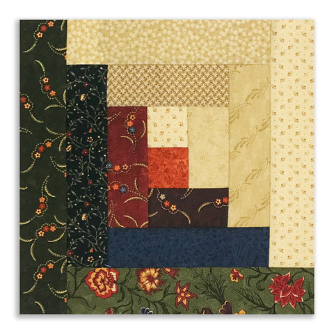 Moda Fabrics Civil War PRE-CUT 12 Block Log Cabin Quilt Kit - Scrappy Kansas Troubles 2