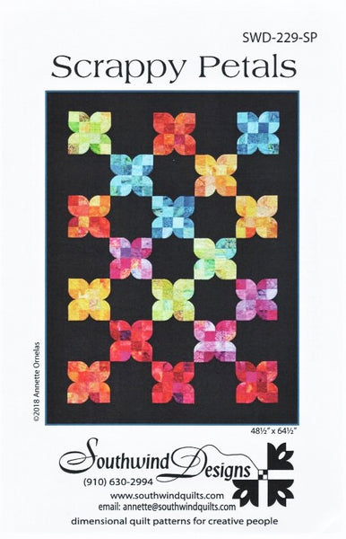 SCRAPPY PETALS - Quilt Pattern By Southwind Designs SWD-229-SP