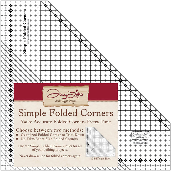 Simple Folded Corners Ruler - Antler Quilt Design AQDR1