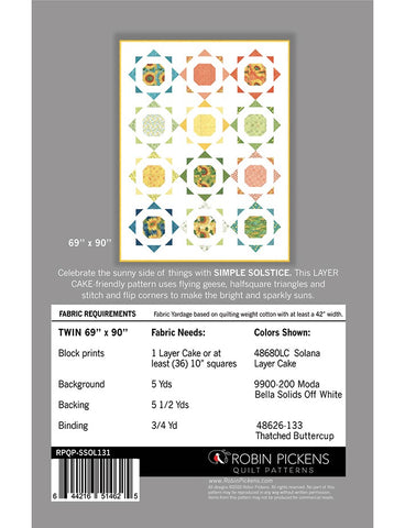 Simple Solstice- Robin Pickens Quilt Pattern