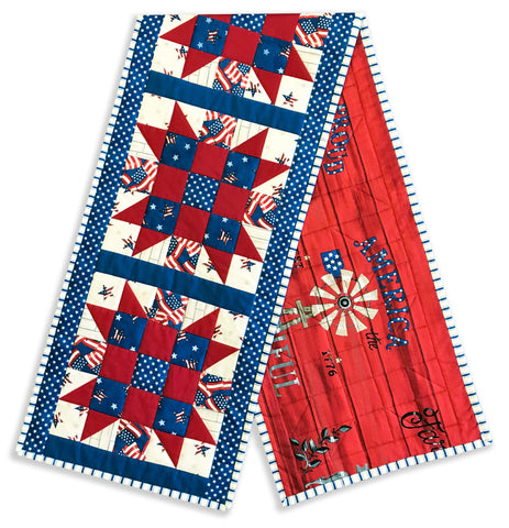Moda Sister's Choice Pre-cut Table Runner Kit - Land That I Love - Windmill