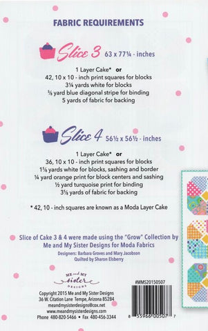 SLICE OF CAKE 3 & 4 - Me & My Sister Designs Pattern