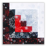 Kaufman Metallic Batiks Winter Holiday PRE-CUT 12 Block Log Cabin Quilt Kit - Snowflakes