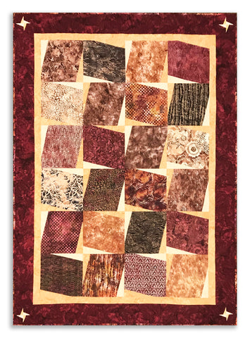"Hoffman Bali Batik Cracker - Layer Cake - VIDEO BUNDLE Spice Cake Quilt - Sparrow - Includes Pre-cut 10"" Squares"