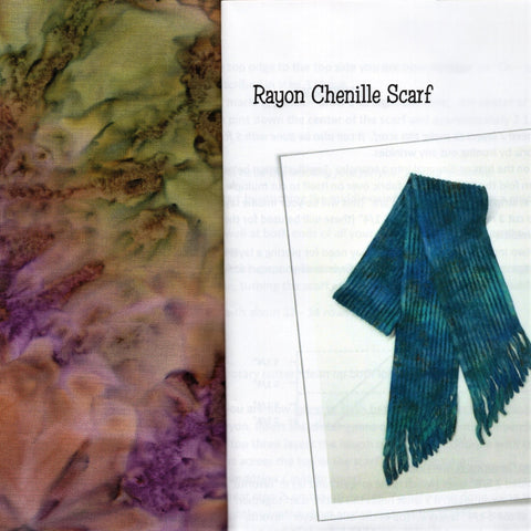 Sew Batik Pre-Cut Rayon Chenille Scarf Kit - Spray Wood Violet