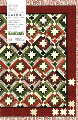 STAR FALL - BASICGREY Quilt Pattern 006