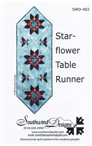 STAR-FLOWER TABLE RUNNER - Quilt Pattern By Southwind Designs SWD-402