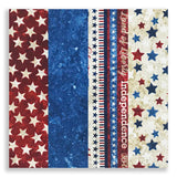 Northcott Stonehenge Americana Pre-Cut 24 Block Rail Fence Quilt Kit - Stars & Stripes