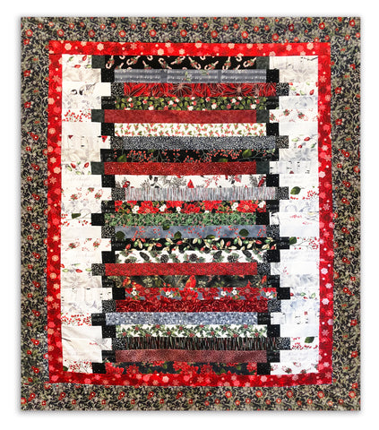 Step Ladder Quilt Kit VIDEO BUNDLE - Jingle Pop Silver