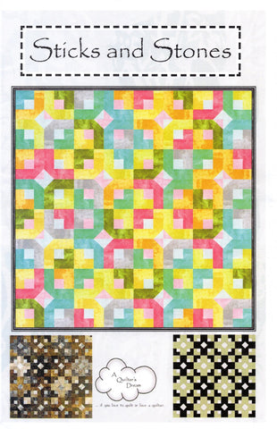 A Quilter's Dream Quilt Pattern - STICKS AND STONES