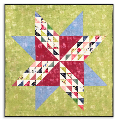 Moda Grunge & Hoffman VIDEO BUNDLE Charm Square Quilt Kit - Sugar Cookie