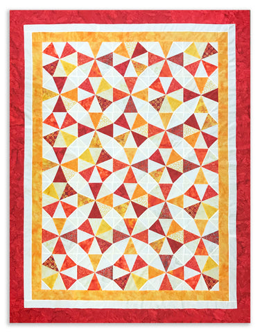 Bali Batik PRE-CUT Roundabout Quilt Kit - Borders included! - Summer Sunrise