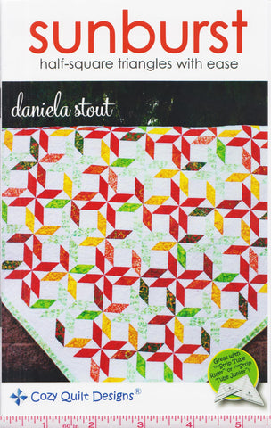 Cozy Quilt Designs Sunburst Half-Square Triangles With Ease Pattern