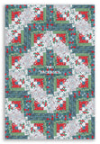 Northcott Holiday PRE-CUT 12 Block Log Cabin Quilt Kit - Swedish Christmas