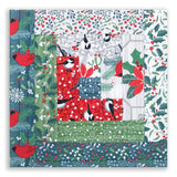 Moda Fabrics Holiday Pre-Cut Log Cabin Table Runner Kit - Swedish Christmas
