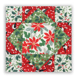 Northcott Holiday Pre-Cut 12 Block King's Crown Quilt Kit - Swedish Christmas