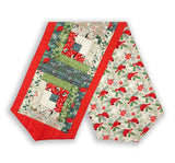 Northcott Fabrics Pre-Cut Log Cabin Table Runner Kit - Swedish Christmas