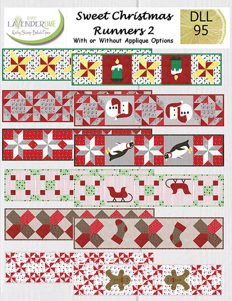 SWEET CHRISTMAS RUNNERS 2 - Lavender Lime Pattern Book