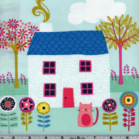 Makower UK Kitty 1921 Kitties Day Out - 24 Inch Fabric Panel