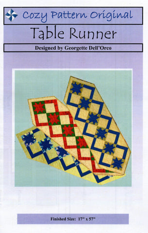 TABLE RUNNER - Cozy Quilt Designs Pattern DIGITAL DOWNLOAD