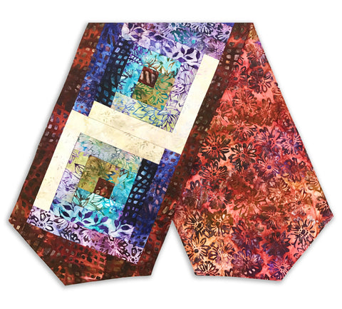 Robert Kaufman Batik Pre-Cut Log Cabin Table Runner Kit - Terrace