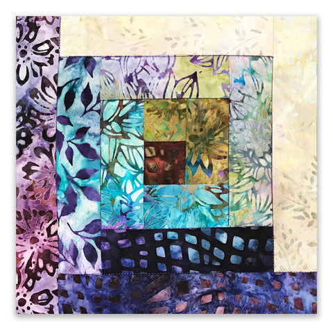 Kaufman Bali Batik 12 Block Log Cabin Pre-Cut Quilt Kit - Terrace