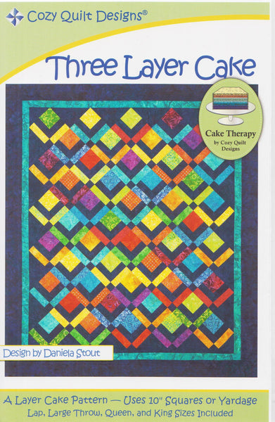 Cozy Quilt Design Three Layer Cake, Cake Therapy Pattern