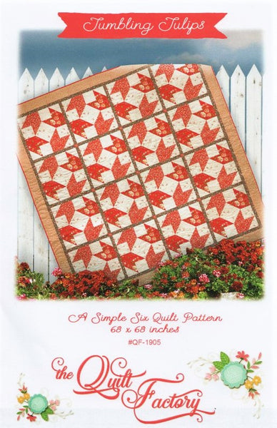 TUMBLING TULIPS - Quilt Pattern QF-1905 By The Quilt Factory