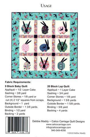 Calico Carriage Quilt Designs Pattern -USAGI