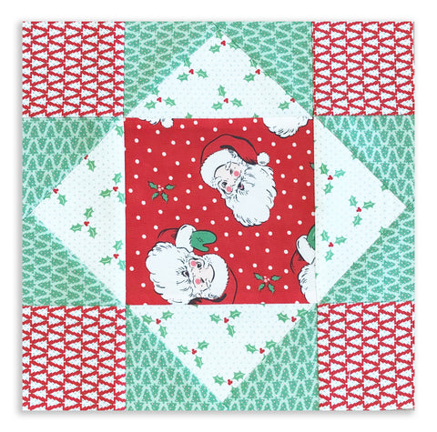 Moda Holiday Pre-Cut 12 Block King's Crown Quilt Kit - Vintage Christmas