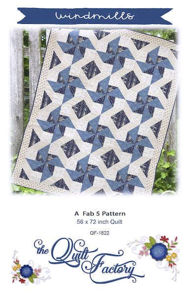 WINDMILLS - Quilt Pattern QF-1822  By The Quilt Factory
