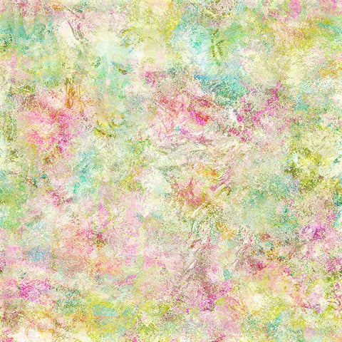 "Hoffman Digital Print Busy Blooms WQ4654 135 Pastel EXTRA WIDE 108"" By The Yard"