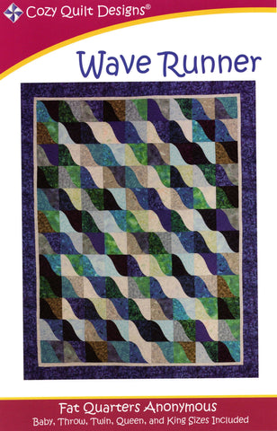 WAVE RUNNER - Cozy Quilt Designs Pattern DIGITAL DOWNLOAD