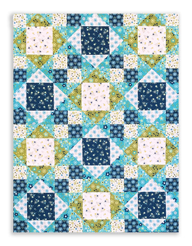 Moda Fabrics Quilt Pre-Cut 12 Block King's Crown Quilt Kit - Well Said