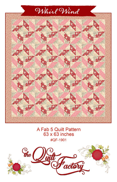 WHIRL WIND - Quilt Pattern QF-1901 By The Quilt Factory