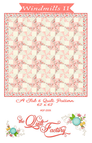WINDMILLS II - The Quilt Factory Pattern QF-2009 DIGITAL DOWNLOAD
