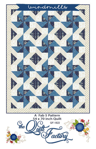 WINDMILLS - The Quilt Factory Pattern QF-1822 DIGITAL DOWNLOAD