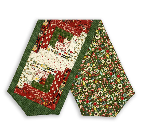 Moda Fabrics Pre-Cut Log Cabin Table Runner Kit Winter Village