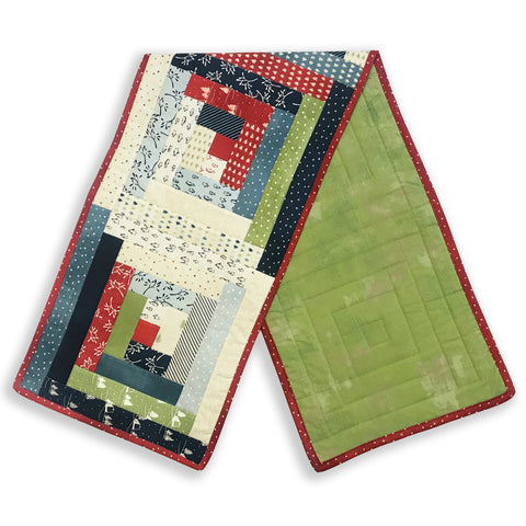 Moda Pre-Cut Log Cabin Table Runner Kit - Wintertide