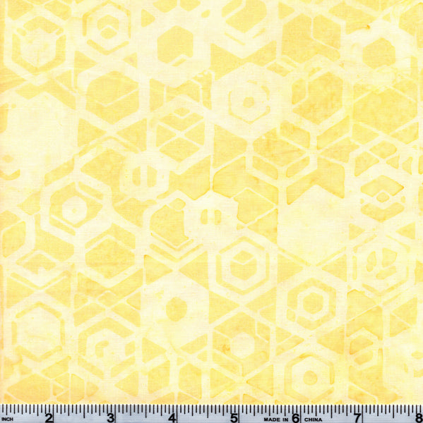 Hoffman Bali Batik MUL 4031 Pale Sun Geometric Shapes By The Yard
