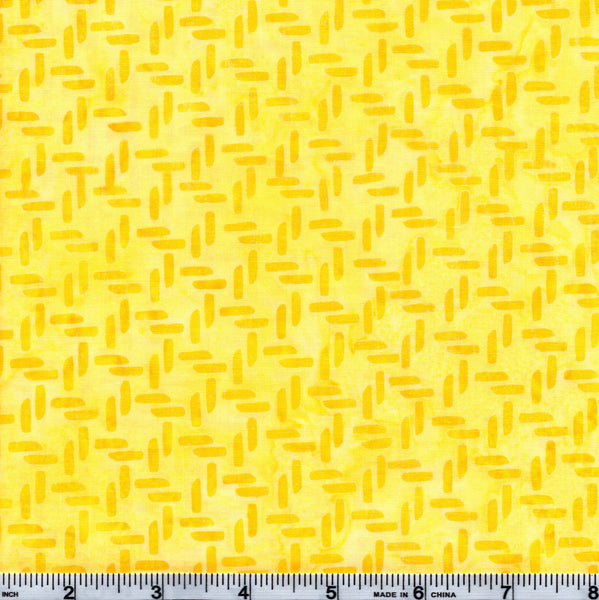 Hoffman Bali Batik YEL 4062 Sunshine Knots By The Yard