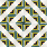 Hoffman Batiks Pre-cut 12 Block Log Cabin Quilt Kit - Me + You
