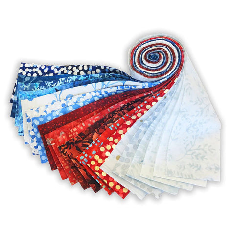 Hoffman Batik VIDEO BUNDLE Table Runner Kit - Sister's Choice - Includes Pre-cut Strips