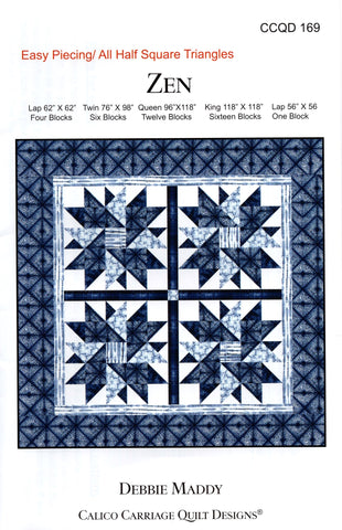 ZEN - Calico Carriage Quilt Designs Pattern CCQD169 DIGITAL DOWNLOAD