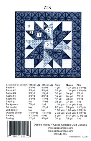 ZEN - Calico Carriage Quilt Designs Pattern CCQD169