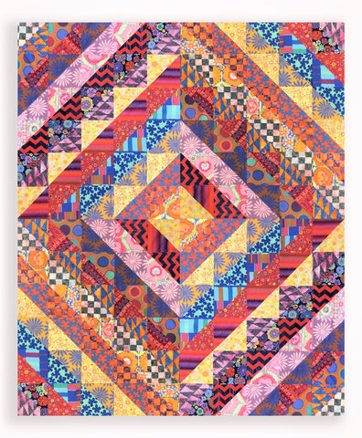 Abundance 3 - VIDEO BUNDLE Quilt Kit - Includes Kaffe Fassett Pre-cut Half Yard Bundle