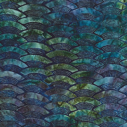 Kaufman Artisan Batiks Evening Stroll 19481 213 Teal Paved Rainbow By The Yard